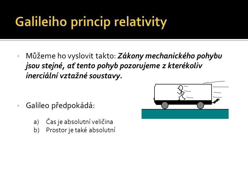 Galileiho princip relativity
