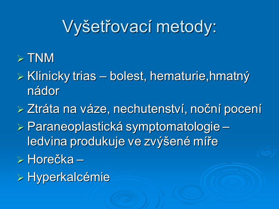 Vyšetřovací metody: TNM