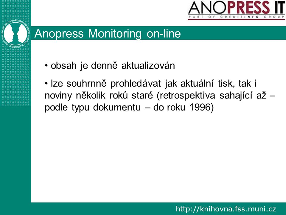 Anopress Monitoring on-line