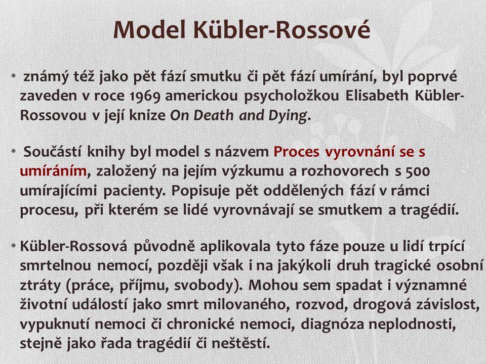 Model Kübler-Rossové