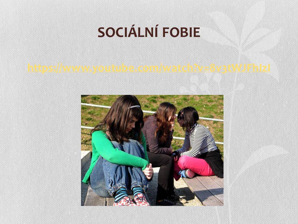 SOCIÁLNÍ FOBIE https://www.youtube.com/watch v=8v3tWJFhIzI