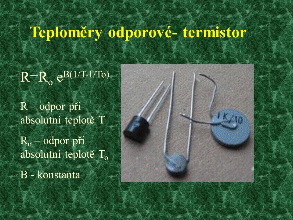 Teploměry odporové- termistor
