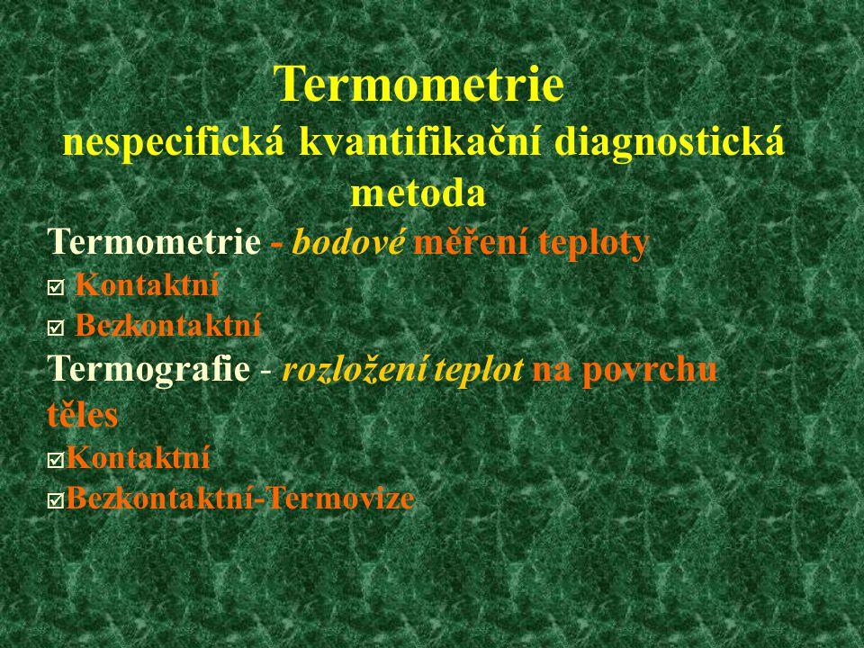 nespecifická kvantifikační diagnostická metoda