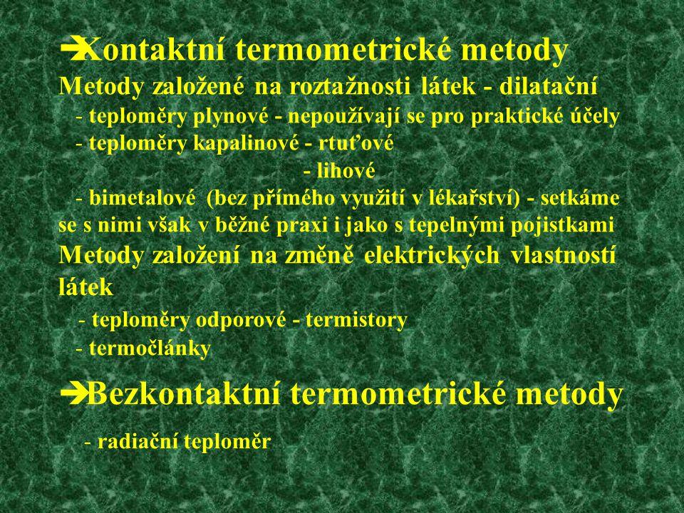 Bezkontaktní termometrické metody