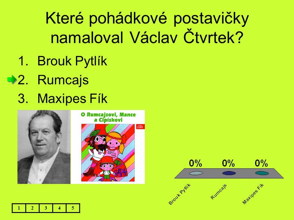 Které pohádkové postavičky namaloval Václav Čtvrtek