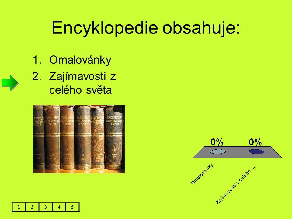 Encyklopedie obsahuje: