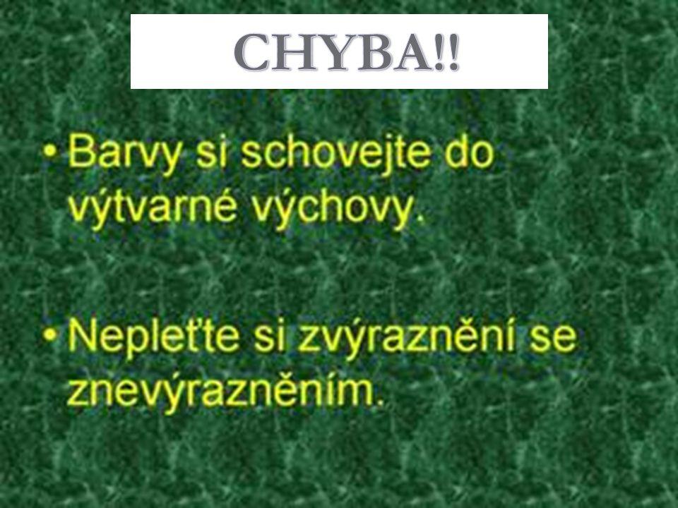 CHYBA!!