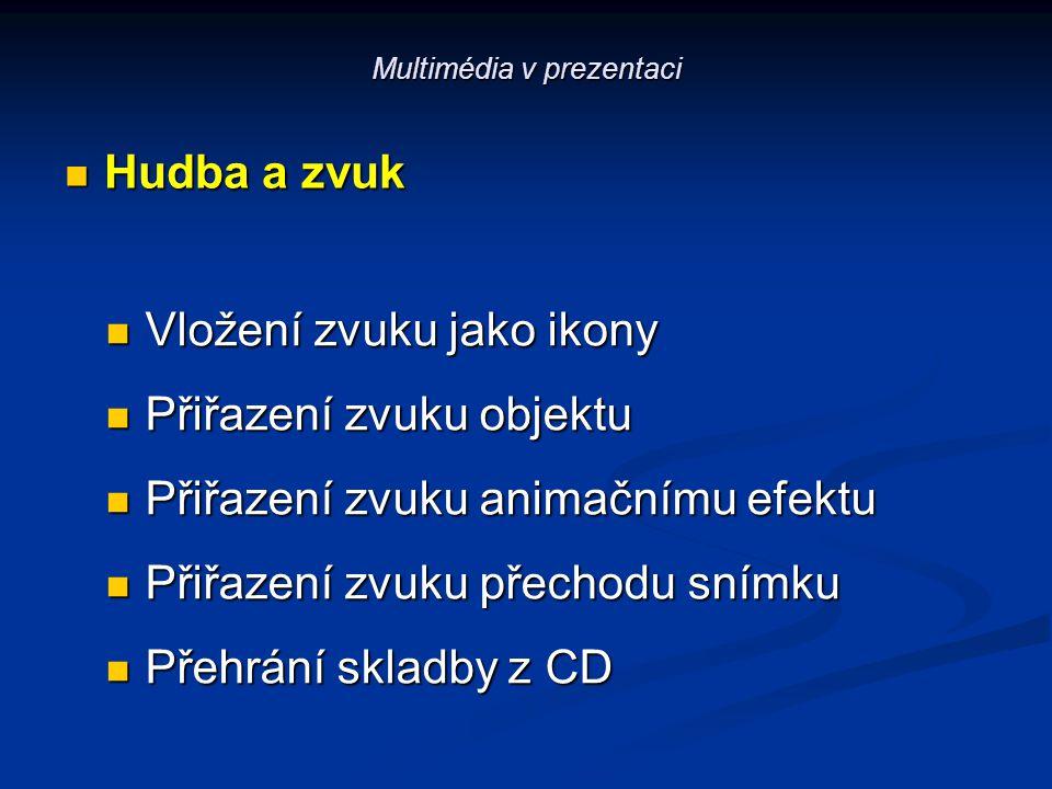 Multimédia v prezentaci