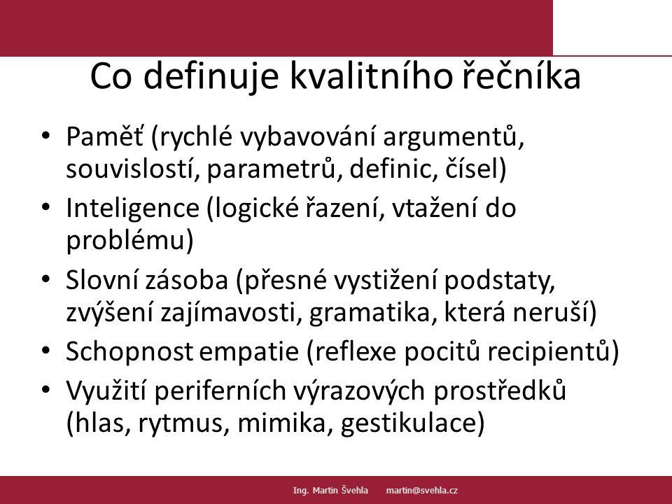 Co definuje kvalitního řečníka