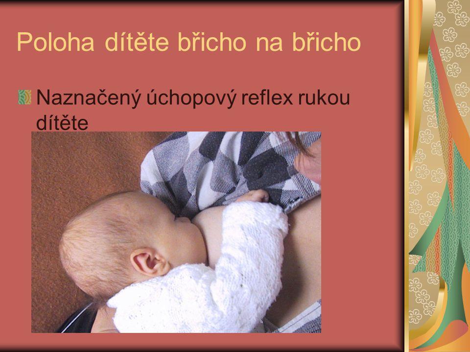 Poloha dítěte břicho na břicho