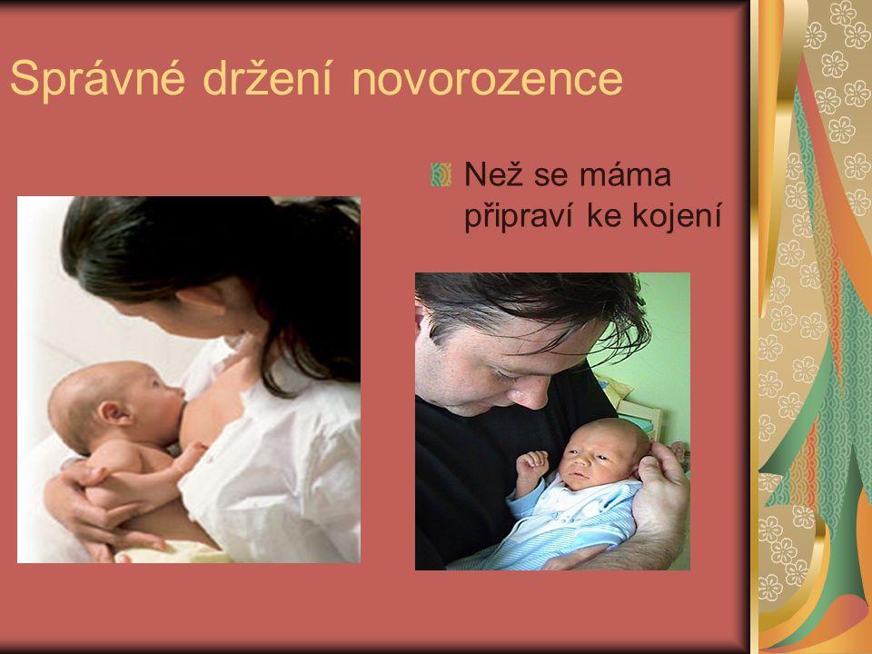 Správné držení novorozence
