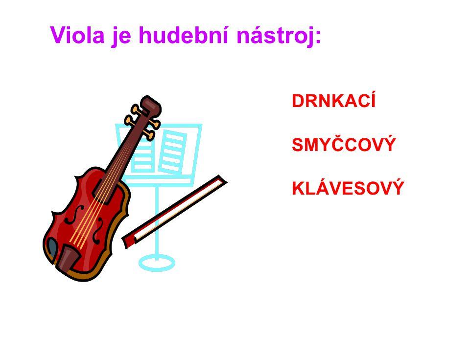 Viola je hudební nástroj:
