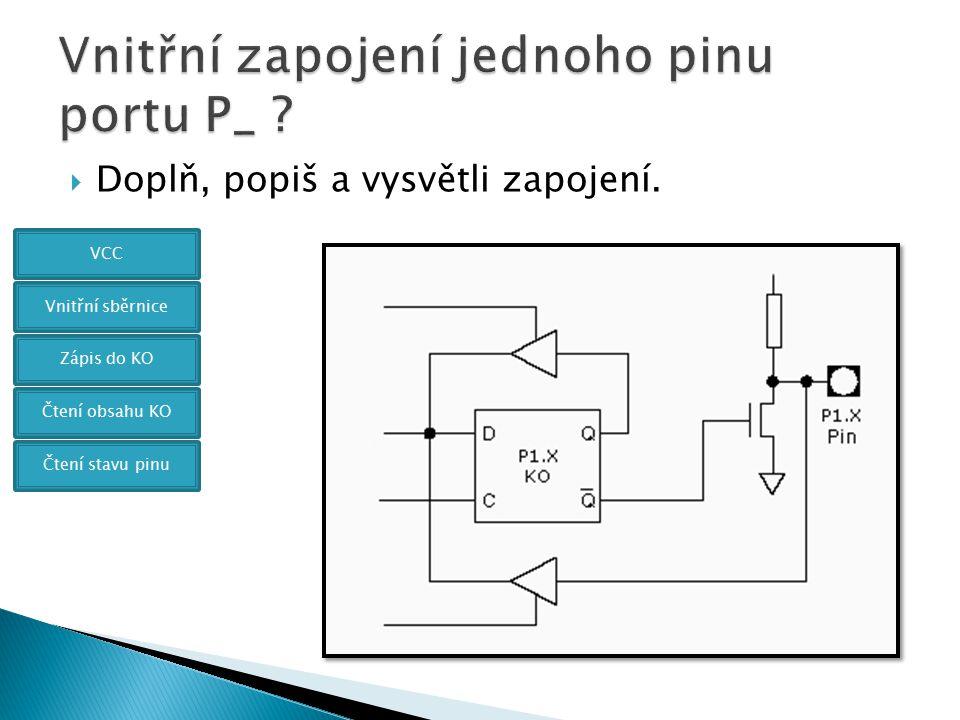 Vnitřní zapojení jednoho pinu portu P_