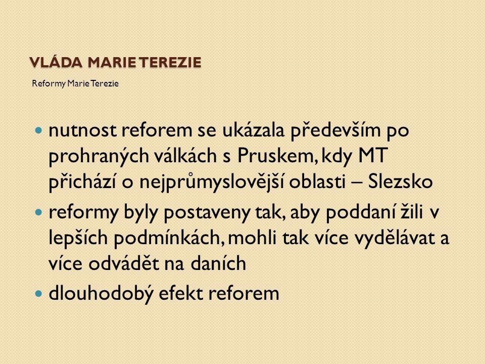 dlouhodobý efekt reforem