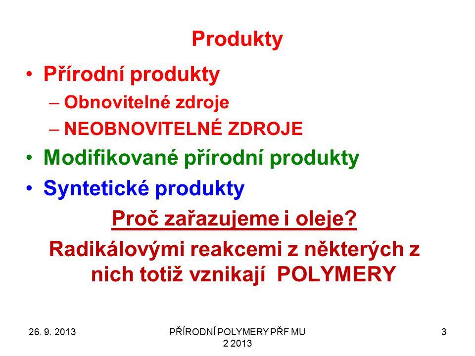 Modifikované přírodní produkty Syntetické produkty