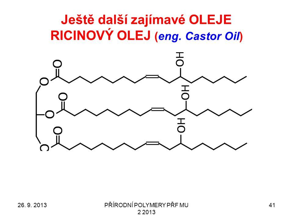 Ještě další zajímavé OLEJE RICINOVÝ OLEJ (eng. Castor Oil)