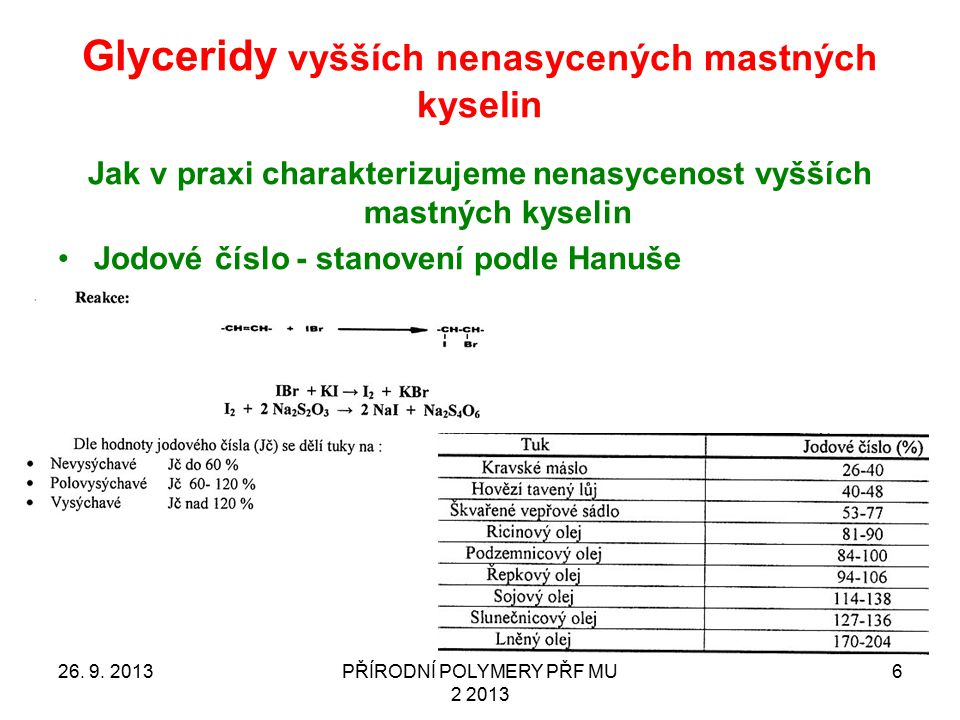 Glyceridy vyšších nenasycených mastných kyselin