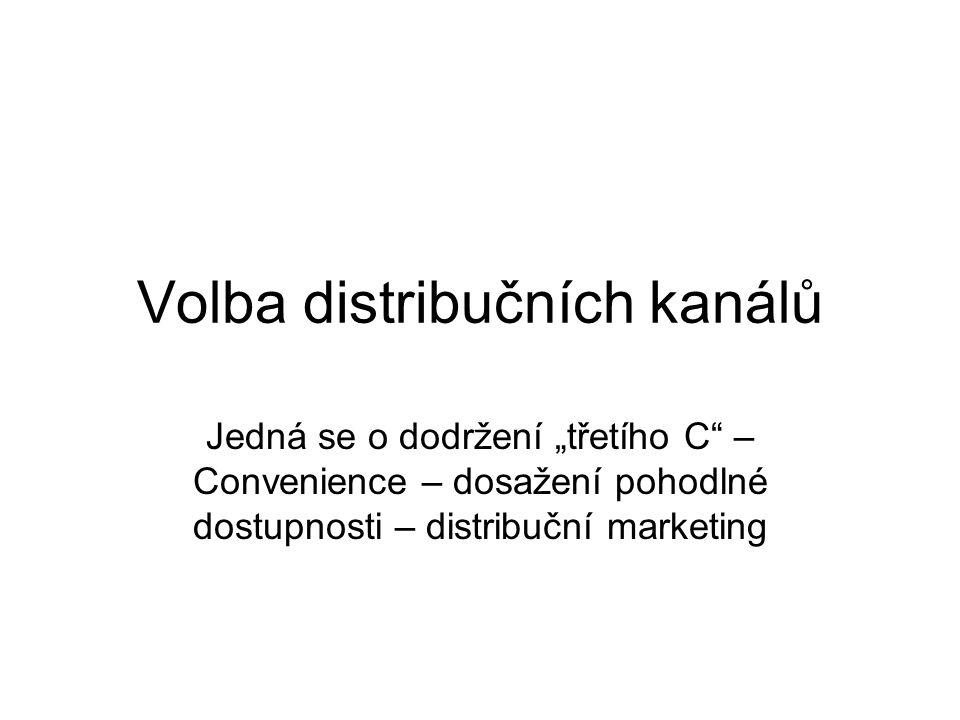 Volba distribučních kanálů