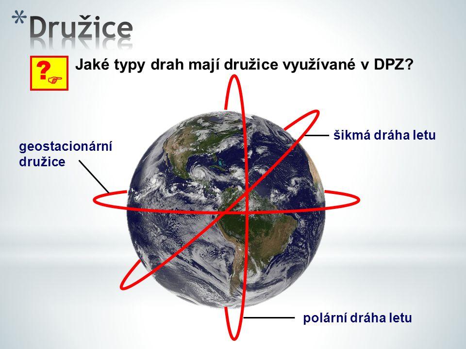 Družice  Jaké typy drah mají družice využívané v DPZ