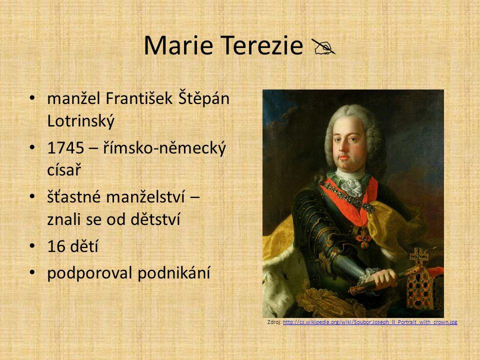 Marie Terezie  manžel František Štěpán Lotrinský