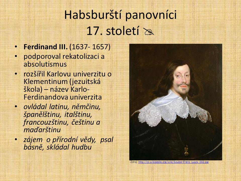 Habsburští panovníci 17. století 