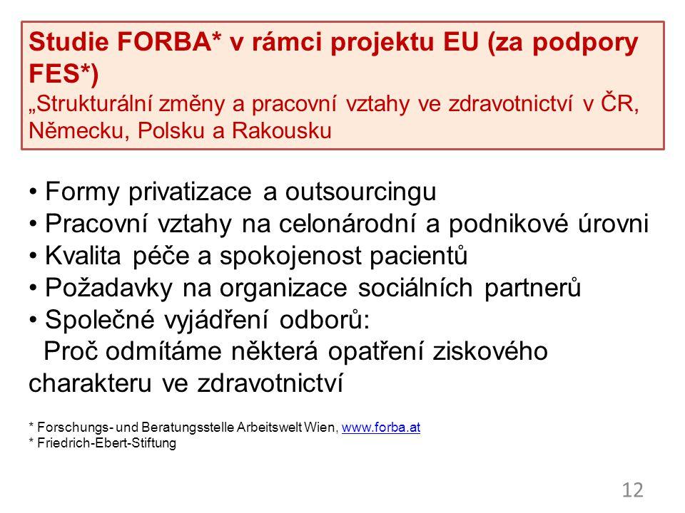 """""""Strukturální změny v nemocničním sektoru - konference 24. /25. 11"""