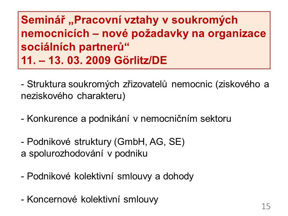 """Seminář """"Evropský sociální dialog – cíle a obsah 29. /30"""