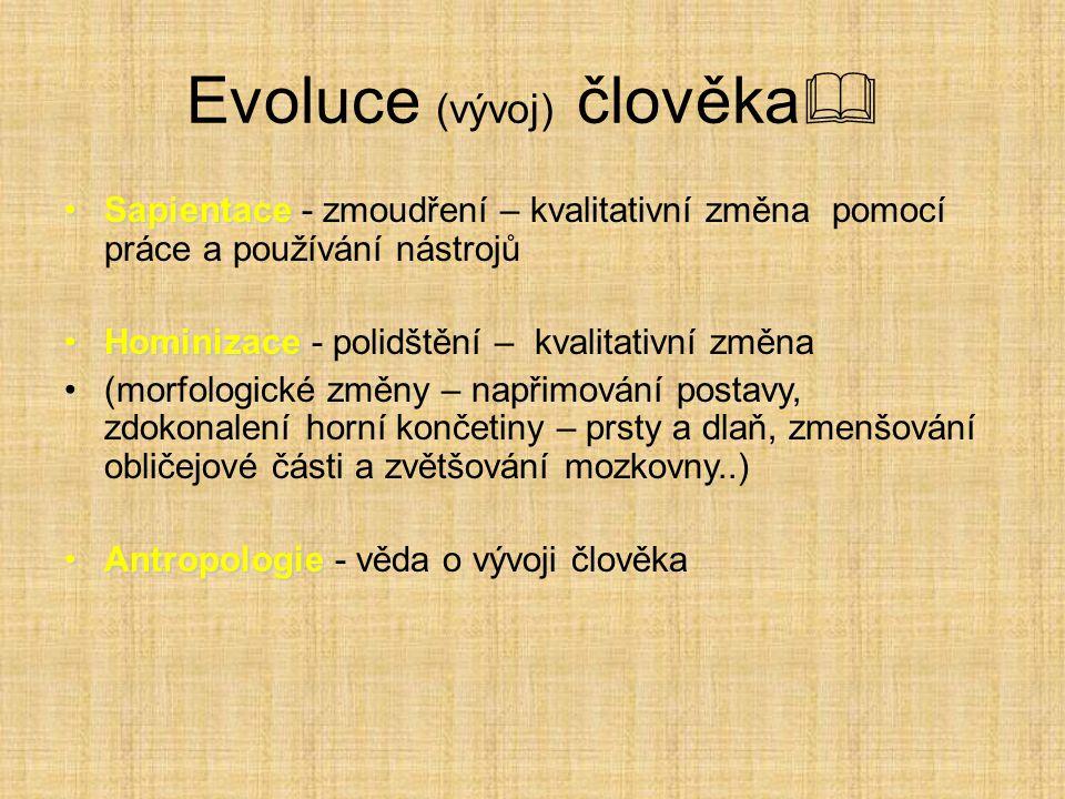 Evoluce (vývoj) člověka