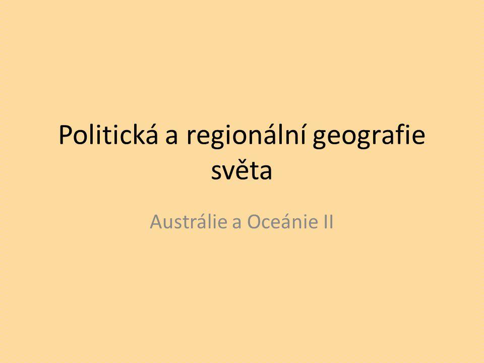 Politická a regionální geografie světa