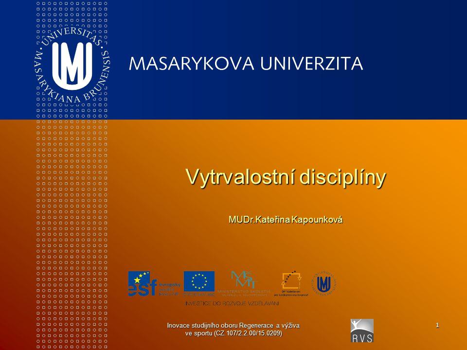 Vytrvalostní disciplíny MUDr.Kateřina Kapounková