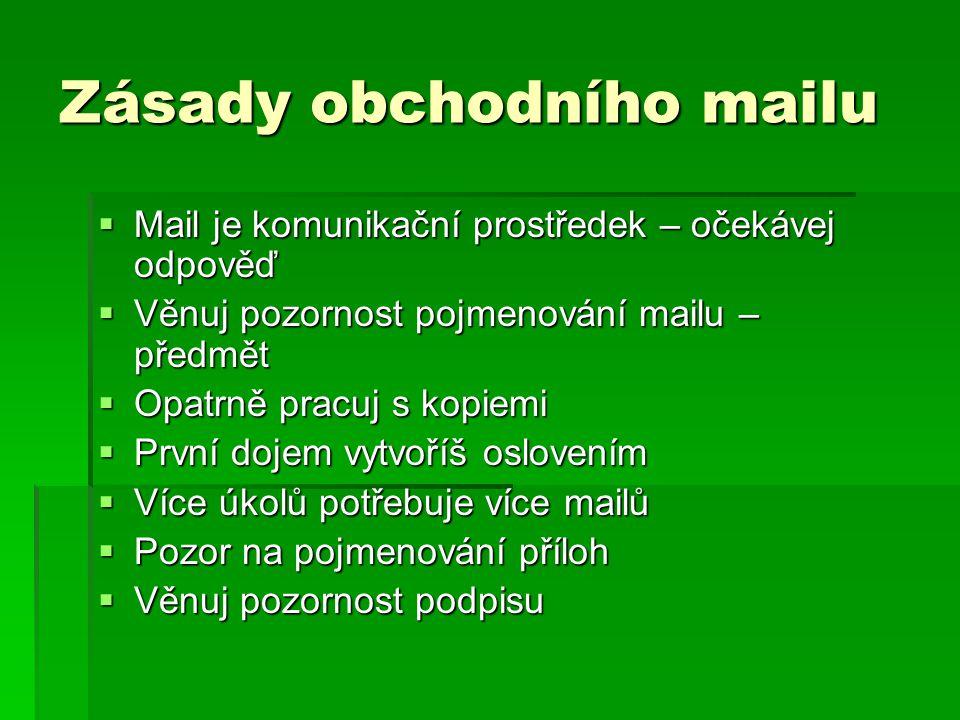 Zásady obchodního mailu