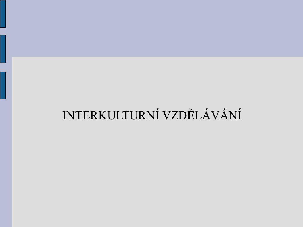 INTERKULTURNÍ VZDĚLÁVÁNÍ