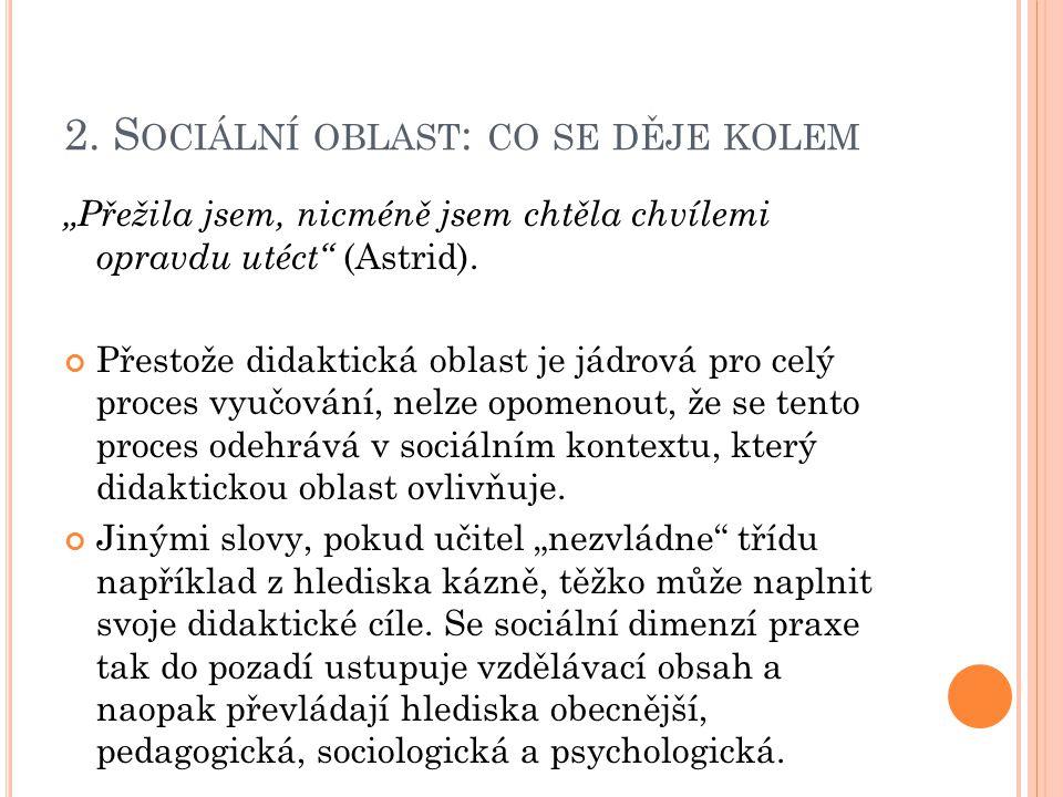 2. Sociální oblast: co se děje kolem