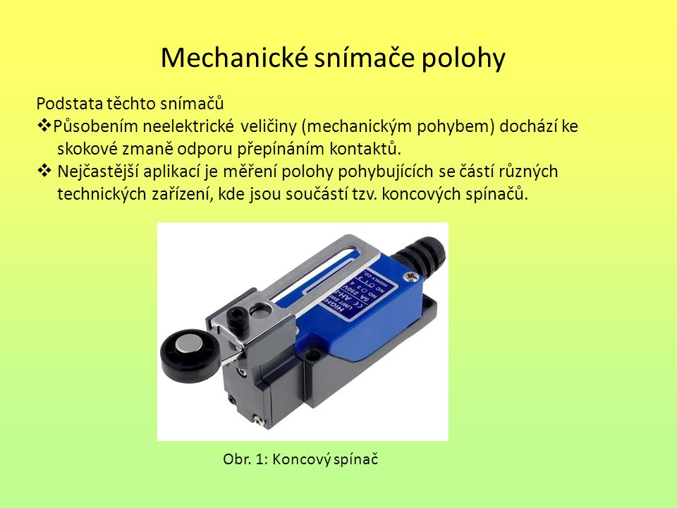 Mechanické snímače polohy