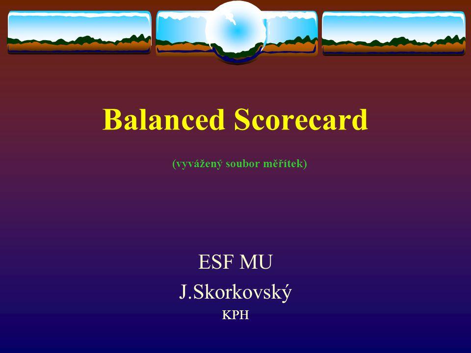 Balanced Scorecard (vyvážený soubor měřítek)