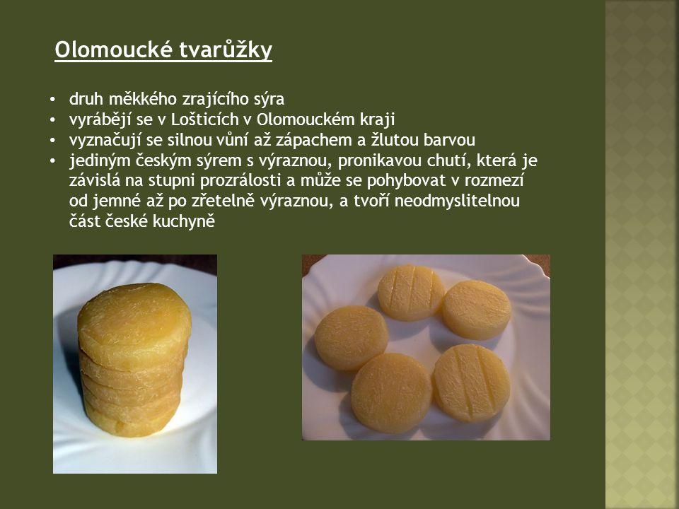 Olomoucké tvarůžky druh měkkého zrajícího sýra
