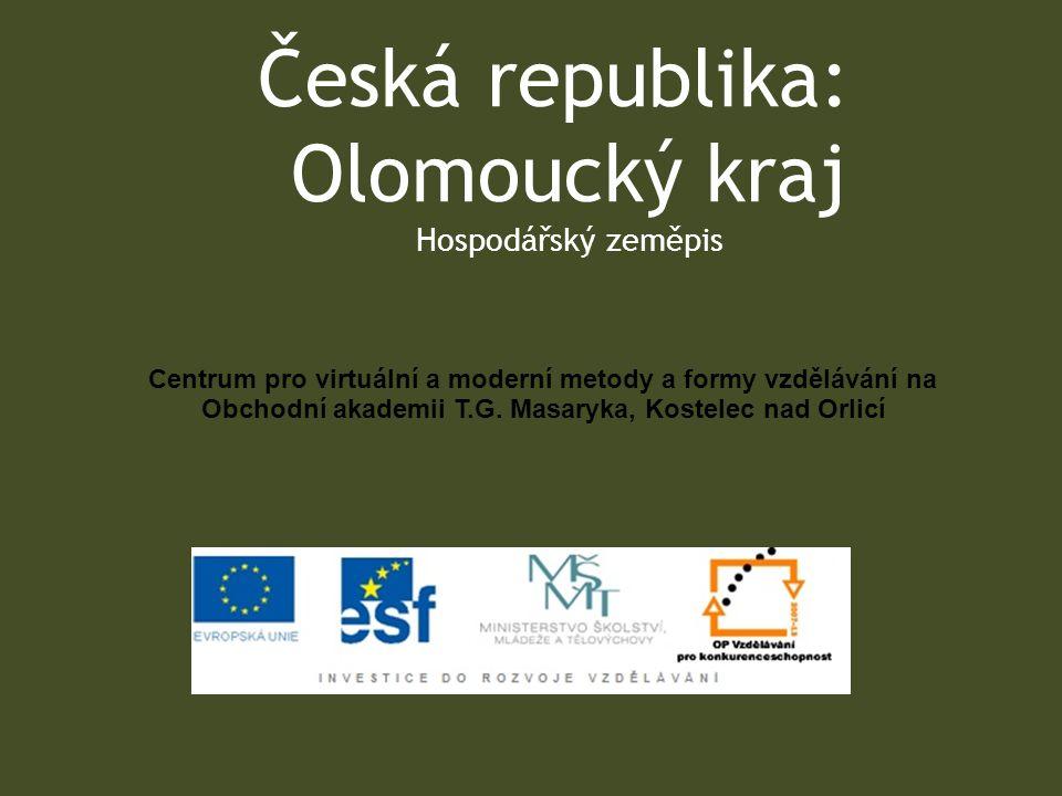 Česká republika: Olomoucký kraj Hospodářský zeměpis