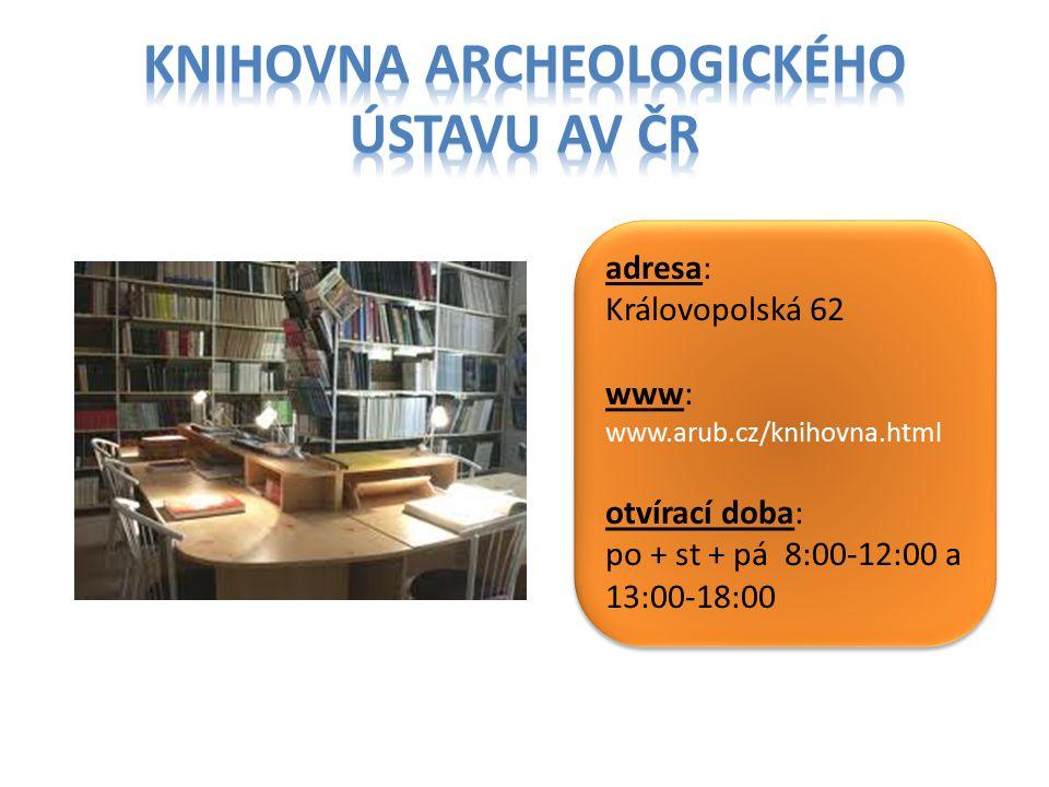 Knihovna archeologického ústavu AV ČR
