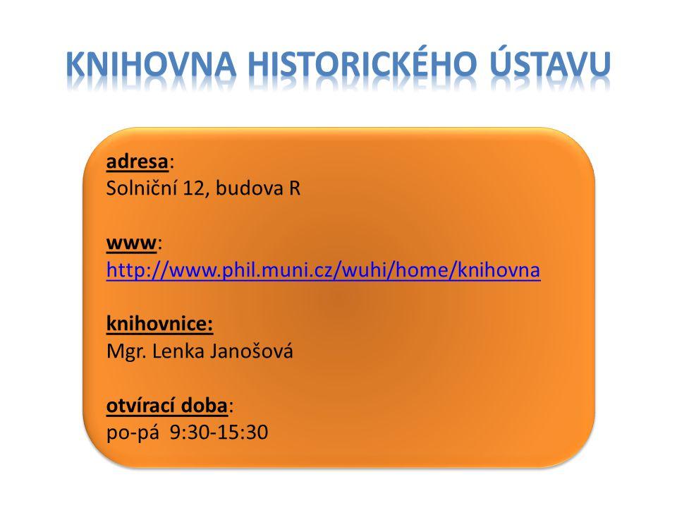 knihovna historického ústavu