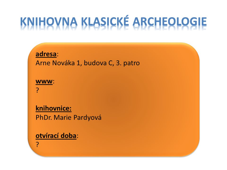 Knihovna klasické archeologie
