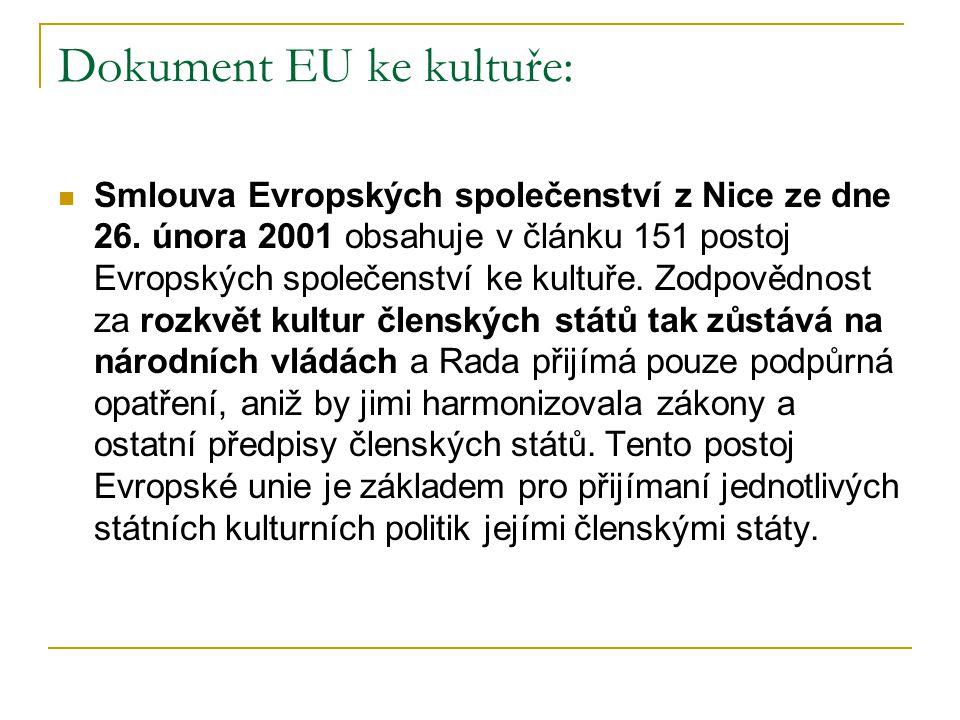 Dokument EU ke kultuře:
