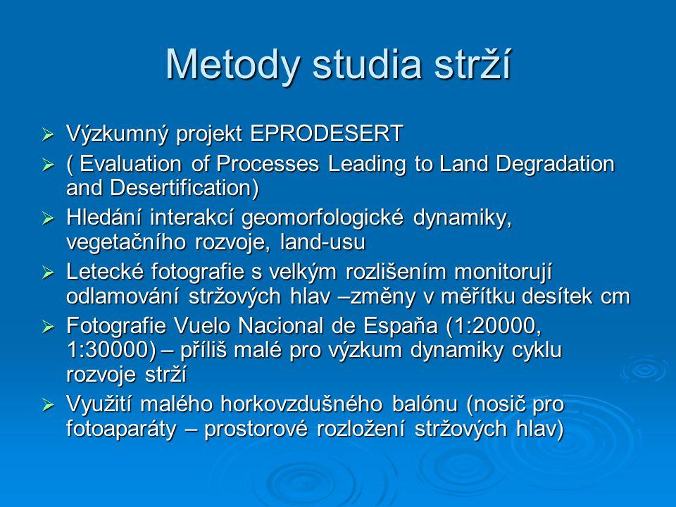 Metody studia strží Výzkumný projekt EPRODESERT