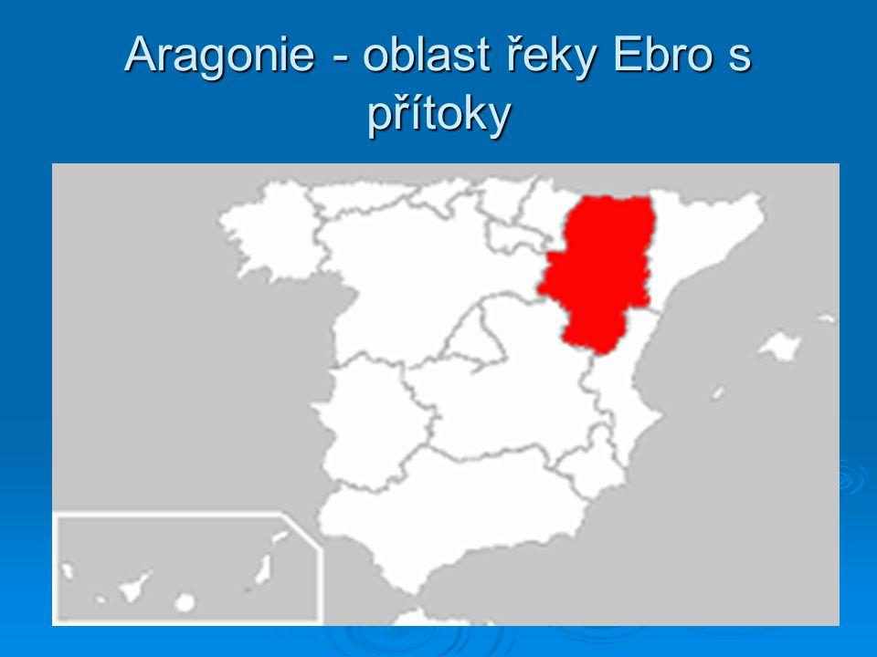 Aragonie - oblast řeky Ebro s přítoky