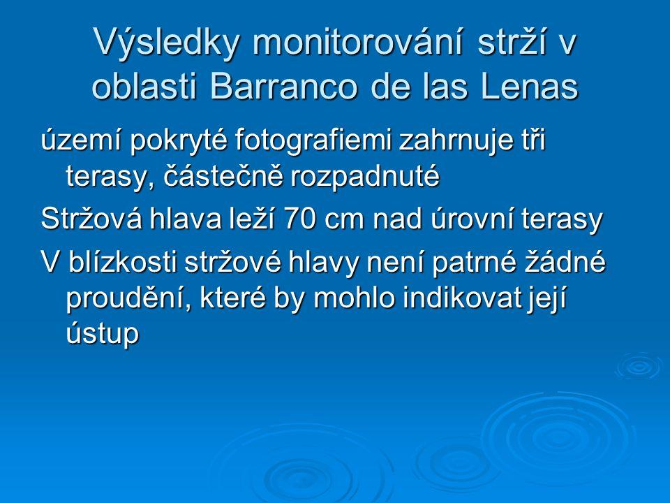 Výsledky monitorování strží v oblasti Barranco de las Lenas