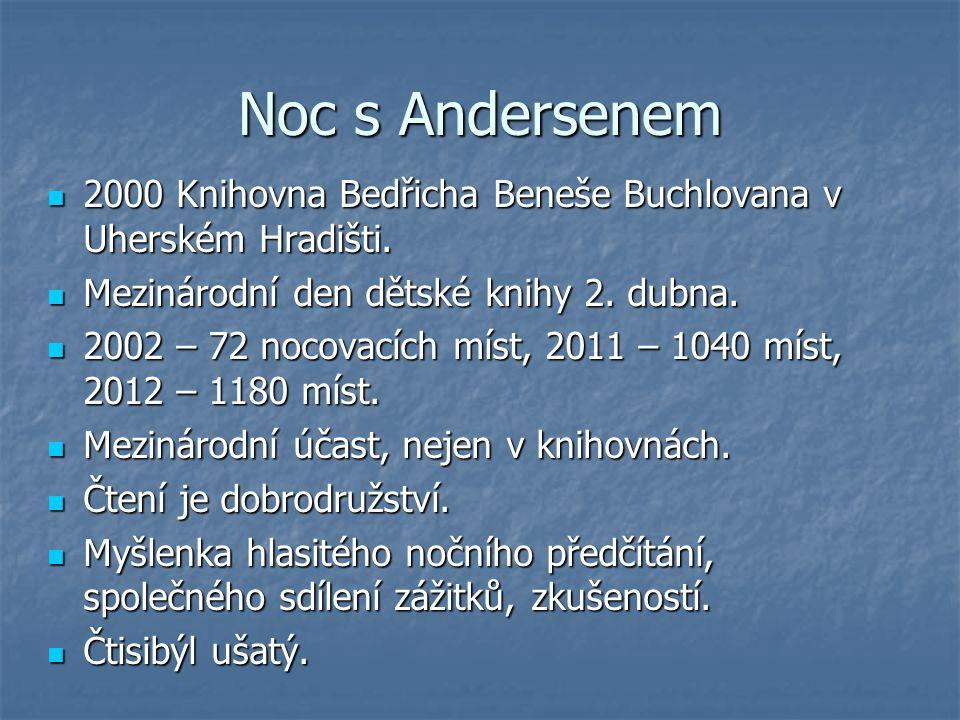 Noc s Andersenem 2000 Knihovna Bedřicha Beneše Buchlovana v Uherském Hradišti. Mezinárodní den dětské knihy 2. dubna.