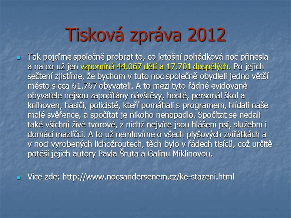 Tisková zpráva 2012