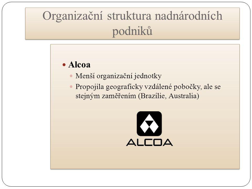 Organizační struktura nadnárodních podniků