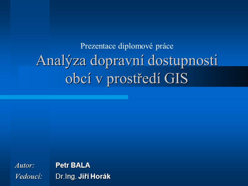 Autor: Petr BALA Vedoucí: Dr.Ing. Jiří Horák