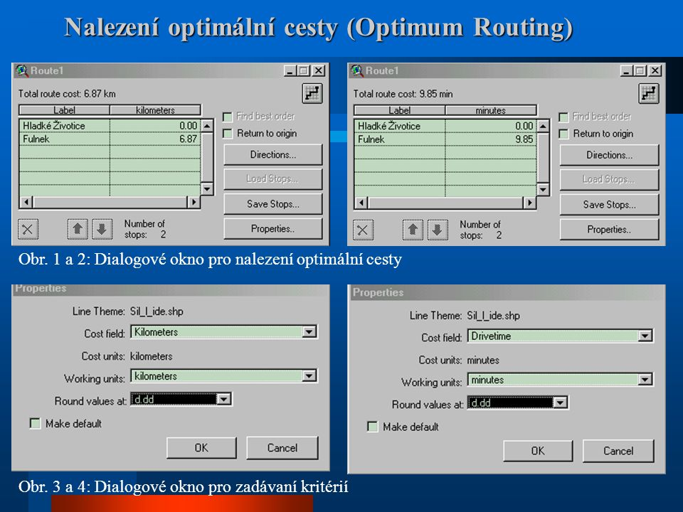 Nalezení optimální cesty (Optimum Routing)