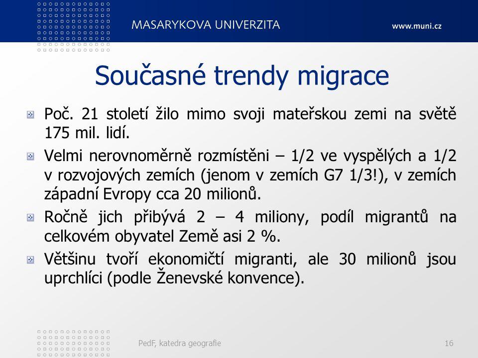 Současné trendy migrace